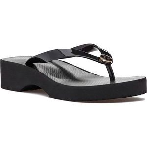 Tory Burch cut out wedge flip flop